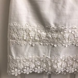 J. Crew Skirts - Jcrew white skirt with flower lace details